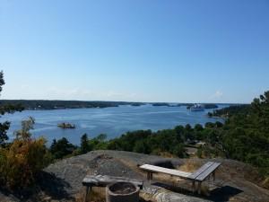 Utsikt från Bötsberget mot Stockholm