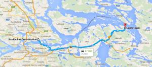 Färdväg till Norra Lagnö